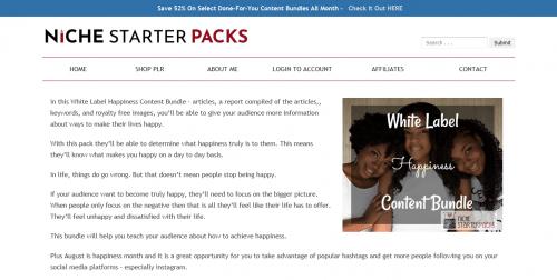 White Label Happiness PLR Content Bundle