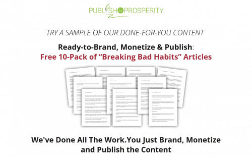 10-Pack of Breaking Bad Habits Free PLR Articles