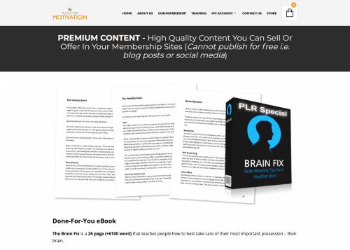 Brain Fix PLR Special – Healthier Mind PLR Content Pack