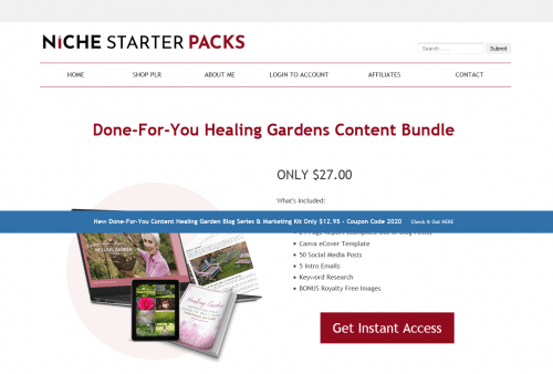 Healing Gardens Improving Your Sense of Well Being Through Nature PLR Marketing Kit
