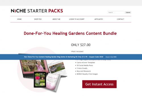 Healing Gardens Improving Your Sense of Well Being Through Nature PLR Marketing Kit