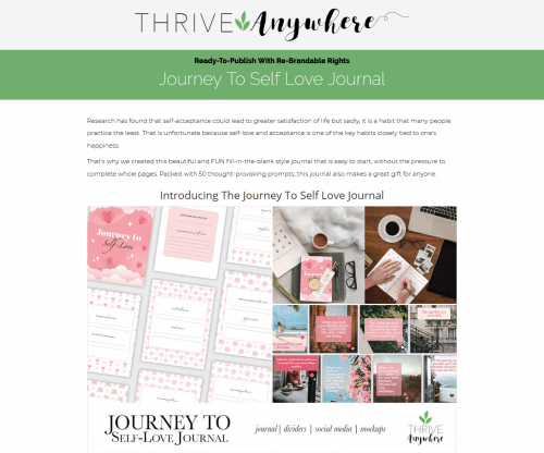 Journey To Self-Love PLR Journal With Re-Brandable Rights