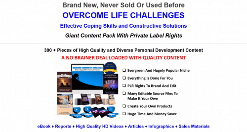 Overcome Life Challenges PLR Over 300 Piece Package