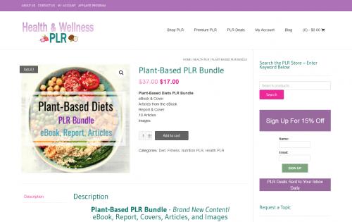 Plant-Based PLR Bundle