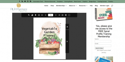 Vegetable Garden PLR Planner