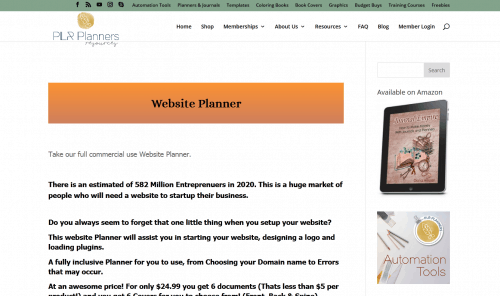 Website PLR Planner