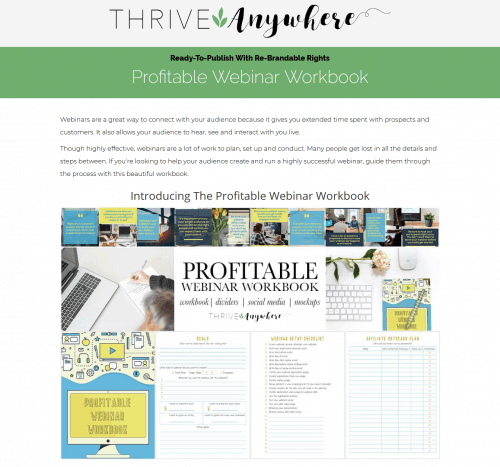 Profitable Webinar PLR Workbook and Tracker