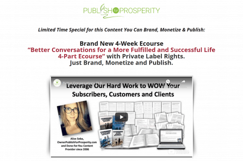 Better Conversations for a More Fulfilled and Successful Life 4-Week PLR Ecourse