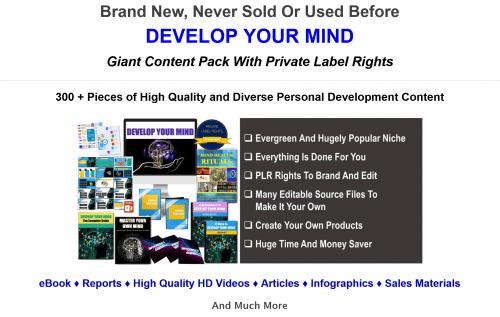 Develop Your Mind 300+ Piece PLR Bundle