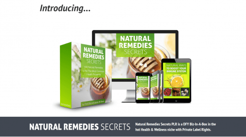 Natural Remedies Secrets Quality PLR Content Bundle