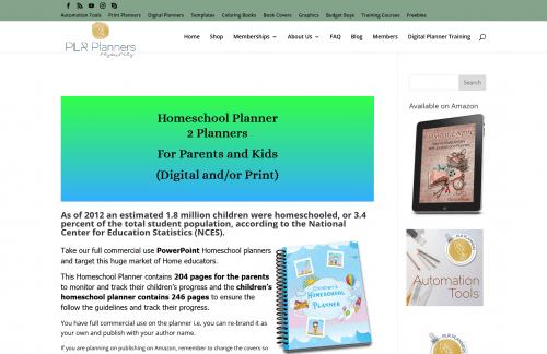 Parents Digital Home School PLR Planner