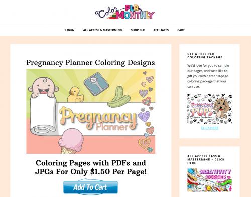 Pregnancy PLR Planner