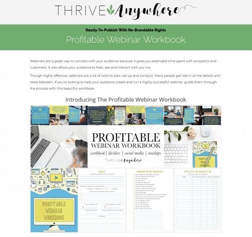 Profitable Webinar PLR Workbook Planner