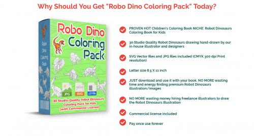 Robo Dino PLR Coloring Pack