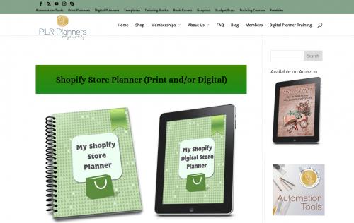 Shopify Store PLR Planner