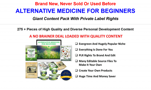 Alternative Medicine For Beginners Giant 300 Piece PLR Pack