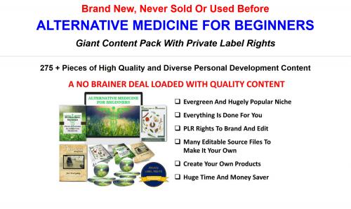 Alternative Medicine For Beginners Giant 300 Piece PLR Pack