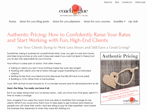 Authentic Pricing PLR Workshop