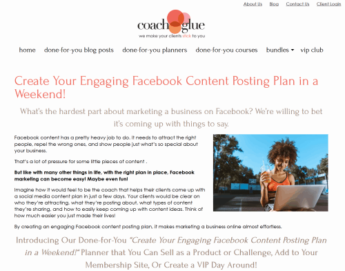 Create Your Engaging Facebook Content Posting Plan in a Weekend PLR Planner