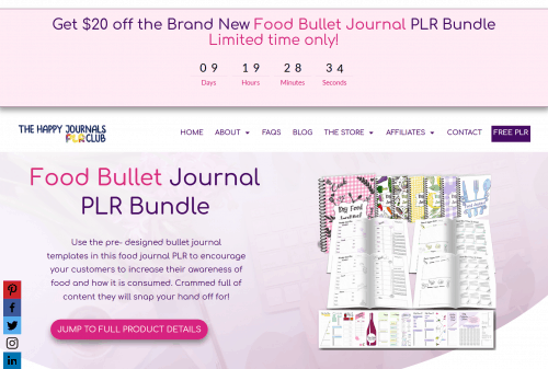Food Bullet Journal PLR Bundle Special