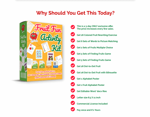 Fruit Fun PLR Activity Kit