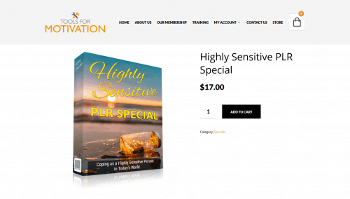 Highly Sensitive Premium PLR Package Special