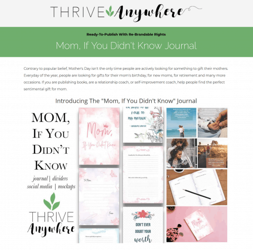If You Didn't Know Mom PLR Journal