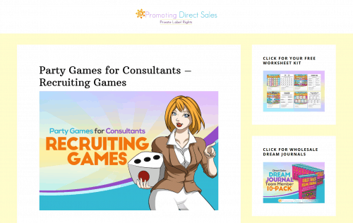 Party Games for Consultants – Recruiting Games PLR Package