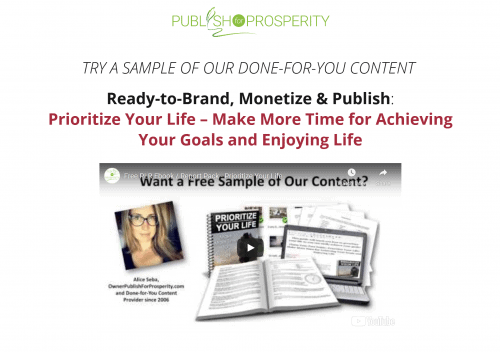 Prioritize Your Life PLR Pack bundle FREE