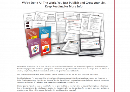 Roadmap to Using Challenges to Grow Your List and Revenue PLR Bundle