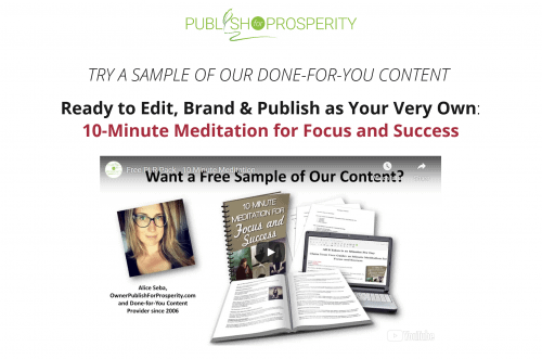 10-Minute Meditation for Focus and Success Free PLR Package