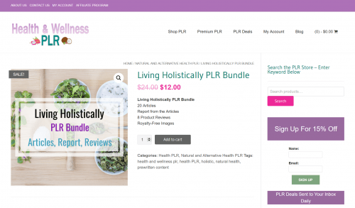 Living Holistically Natural Health PLR Bundle