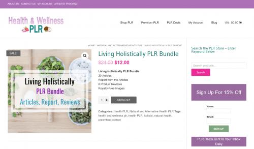 Living Holistically Natural Health PLR Bundle