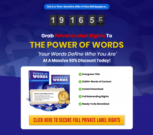 Power of Words PLR Articles Pack 11 000 Words Self Help