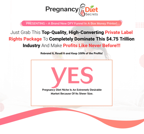Pregnancy Diet Secrets PLR Sales Funnel