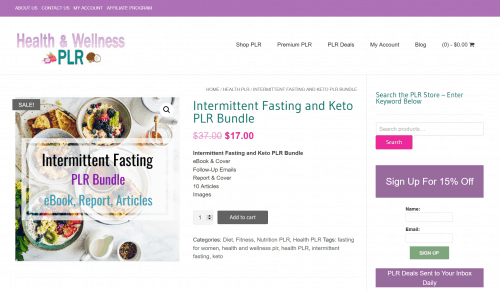 Intermittent Fasting Health PLR Bundle