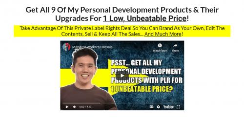 Manifest Workers PLR Firesale 9 Personal Development PLR Sales Funnels