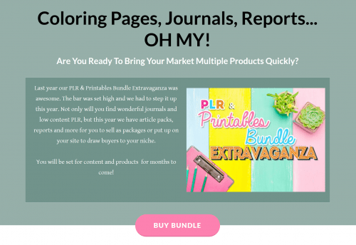 PLR Printables Extravaganza Bundle – PLR Coloring Pages, Journals and Reports