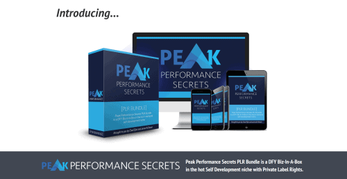 Peak Performance Secrets DFY PLR Biz In A Box Special