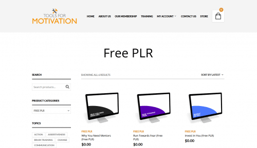 Premium Quality Free Personal Development PLR Content