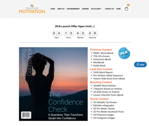 The Confidence Check Premium PLR Self Help Content (Self Help Kit – Limited-Time Special)