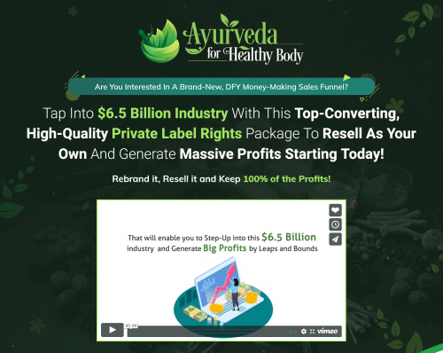 Ayurveda for Healthy Body Sales Funnel