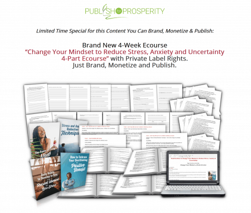 Change Your Mindset to Reduce Stress Anxiety and Uncertainty 4-Week PLR Ecourse