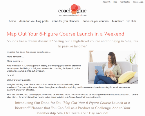 Map Out Your 6-Figure Course Launch in a Weekend PLR Coaching Content