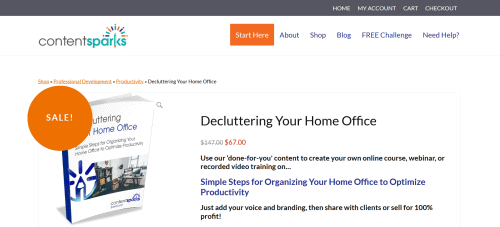 Decluttering Your Home Office Premium PLR Coaching Product