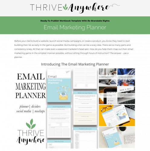 Email Marketing PLR Planner