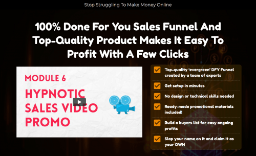 Udemy For Recurring Income PLR Sales Funnel