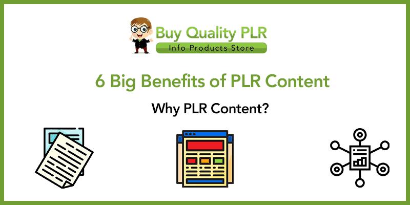 Six Big Benefits of PLR Content