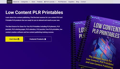 Low Content PLR Printables