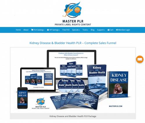 Kidney Disease and Bladder PLR Sales Funnel Package